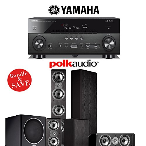 Yamaha AVENTAGE RX-A760BL 7.2-Channel Network A/V Receiver + Polk Audio TSi 500 + Polk Audio TSi 200 + Polk Audio CS10 + Polk Audio PSW110 - 5.1 Home Theater Package