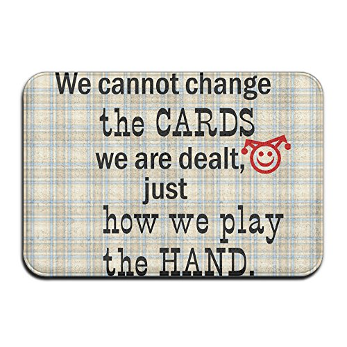 We Cannot Change The Cards Cool Anti Slip Bath Mat Floor Mats 4060Cm