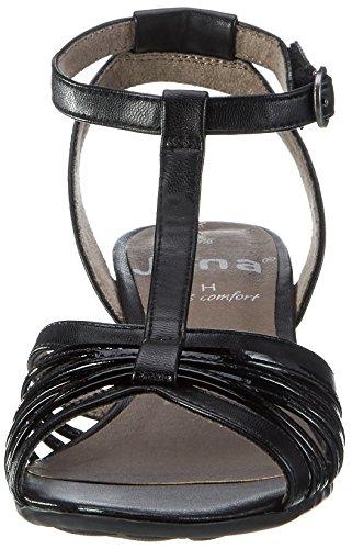 37 Bout Noir EU Jana Black Femme Ouvert Sandales Noir 28309 001 w4FYSq6