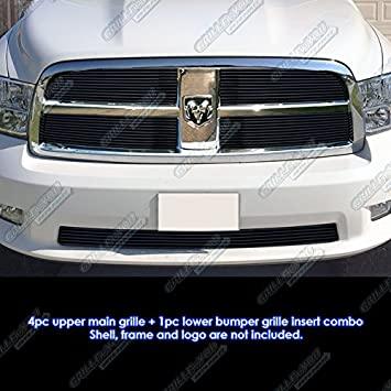 APS Compatible with 2013-2018 Ram 1500 Express and Sport Model Only Billet Grille Inserts D65920A