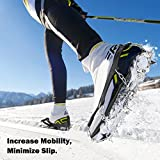 MoKo 19 Spikes Ice Crampon, Outdoor Footwear Traction...