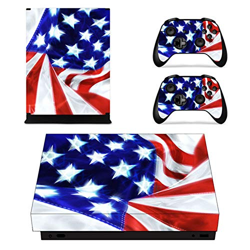 USA National Flag Faceplates Skin Console & Controller Decal Stickers for Xbox One X Console + Controller Skin Sticker,YSX1X1883
