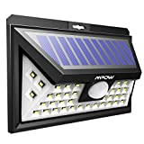 Mpow 40 LED Solar Lights Bright Garden Lights Motion Sensor, 3 Optional Lighting Modes, Large Solar Panel Weatherproof, Great Outdoor Lights for Garden, Driveway, Yard, Pathway and Pa