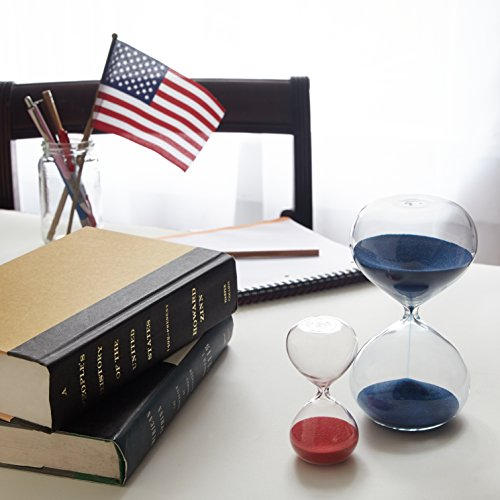 30 & 5 Minute Gravity Hourglasses - Time Management & Productivity Tools - Old Glory Red and Blue