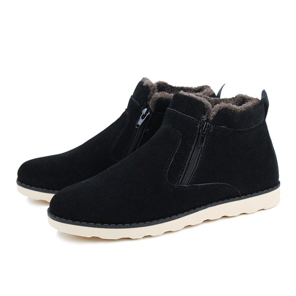 8a74491a8b1 XIANV Hombres Zapatos Botas de nieve de moda Nuevo invierno casual Botines  cálidos Zapatos de piel de invierno Calzado de cuero Negro