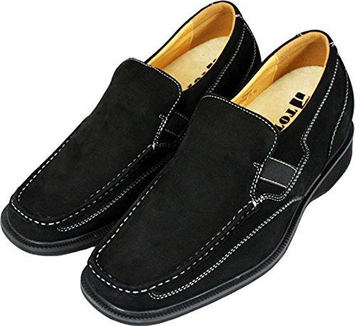 V-TOTO 0903-(3 7,62 cm, altezza Inches)-Tappetto aumentare ascensore Shoes, Scarpe Casual, colore: nero)