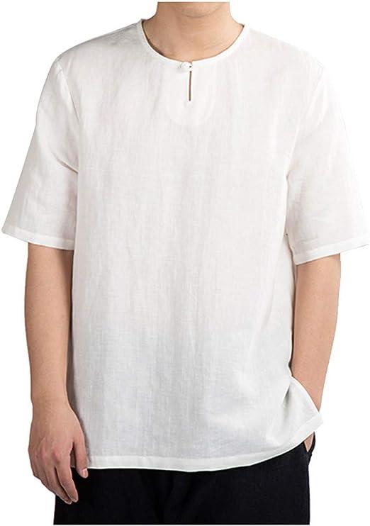 Camisa Hawaiana enrrollada | Hombres | XS-6XL | Manga Corta | Bolsillo Frontal | Hawaiano-Imprimir | Flamingo: Amazon.es: Ropa y accesorios