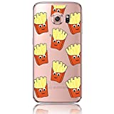Galaxy S7 Case, Bonice Creative Funny [Potato Chips] Pattern Slim & Soft Flexible TPU Advanced Phone Case Transparent Shock Protection Durable Cover for Samsung Galaxy S7 SM-G9300, Pattern 12