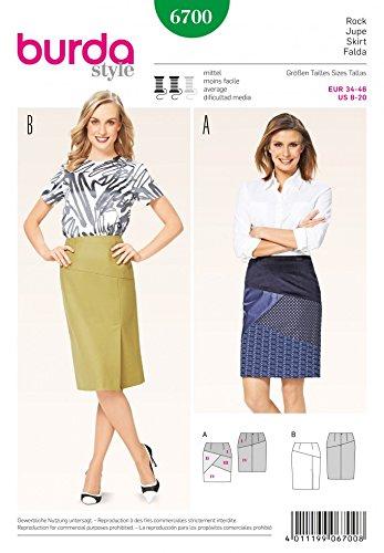 Panelled Pencil Skirt - Burda Ladies Sewing Pattern 6700 Panelled Pencil Skirts