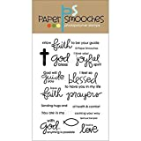 Paper Smooches Clear Stamps, 4 by 6-Inch, Spiritual Sampler