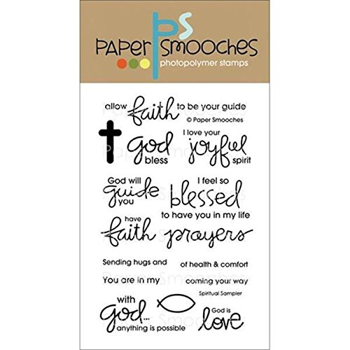 Paper Smooches QES143 Clear Stamps, 4 by 6-Inch, Spiritual (Spiritual Sampler)