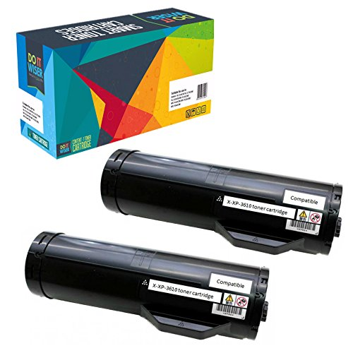 Do it Wiser Compatible High Yield Toner Cartridge Replacement for Xerox Phaser 3610 WorkCentre 3615 2-Pack Black