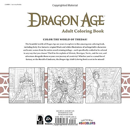Amazon Dragon Age Adult Coloring Book 9781506702834 Bioware Books
