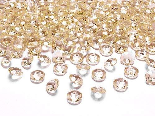 Schnooridoo 500 Diamantes Oro/Albaricoque Oro/Albaricoque Oro/Albaricoque 12mm Decoración de la Mesa Artículos para Esparcir Boda Bautizo Confirmaci' On Evento Decoración e61589