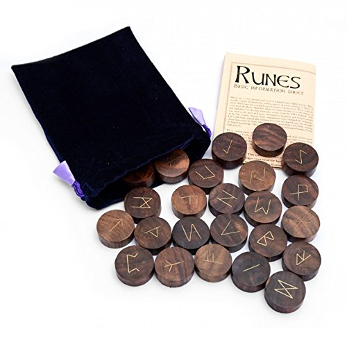Hand-Carved Wooden Rune Set