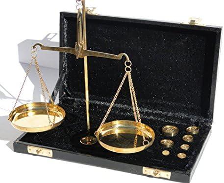 Elegante Pequeña Balanza de precisión en latón antiguo antigua de joyeros en caja Vintage: Amazon.es: Hogar