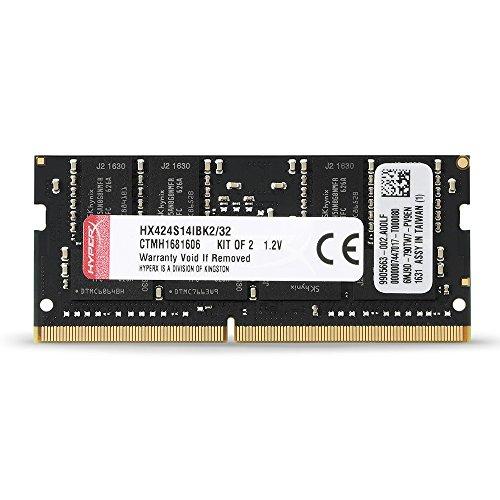 Kingston Technology HyperX Impact 32GB Kit (2x16GB) 2400MHz DDR4 CL14 260-Pin SODIMM Laptop HX424S14IBK2/32 by HyperX (Image #3)