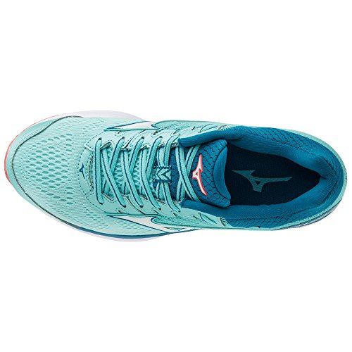 21 de ciel Wos Running Noir bleu Chaussures Femme bleu Wave Mizuno Rider xwgEq