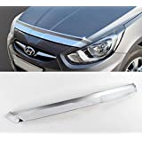 Chrome Bug Shield Bonnet Guard Protector Molding For 2011 2016 Hyundai Accent