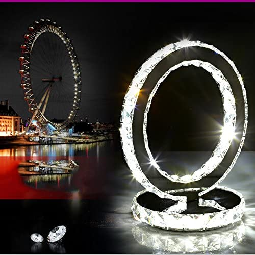 Crystal Table Lamps Glass Table LED Desk Lamp lampCreative Stainless Steel Modern Minimalist Bedroom Night Light/Crystal Bedside Table Lamp