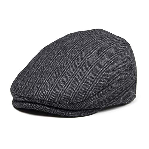 JANGOUL Kids Wool Tweed Flat Cap Herringbone Boy Girl Newsboy Caps Infant Toddler Child Youth Beret Hat Ivy Gatsby Cap -