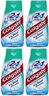 Colgate 2-in-1 Toothpaste & Mouthwash, Whitening Icy Blast, 4.6 Ounce Tube