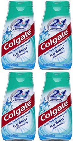 Colgate 2 in 1 Whitening Icy Blast Toothpaste & Mouthwash-4.6 oz, 4 pk