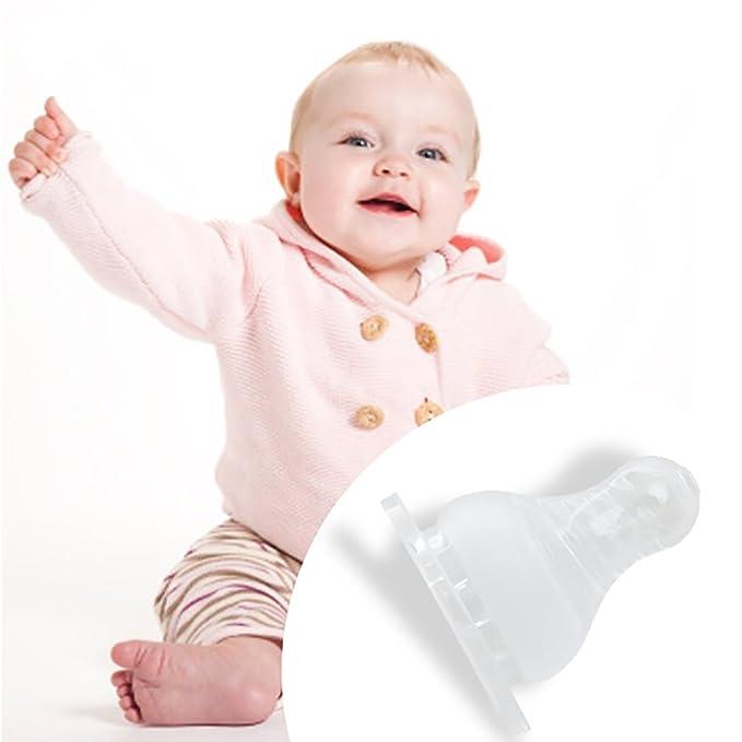 Kimnny - Pinzas para Chupete de Silicona para bebé (Cuello ...