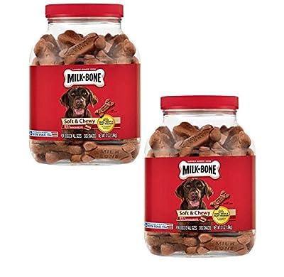 Milk Bone Soft Chewy Beef Filet Mignon Recipe Dog Snacks 37 Oz (Pack Of 2), New from CentralAthena