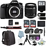 Canon EOS Rebel 80D Bundle With EF-S 18-55mm IS STM Lens + Canon 80D Camera Advanced Accessory Kit - Including EVERYTHING You Need To Get Started