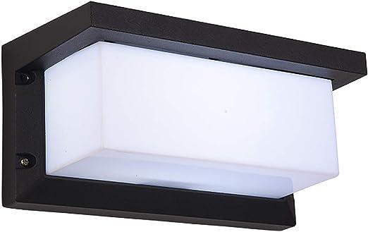 Combuh Aplique Pared LED Impermeable IP54 12W Aluminio Apliques de Exterior Adecuado para JardíN Frente Baño Porche Garaje Blanco CáLido 3000K 260 * 125 * 125 MM: Amazon.es: Iluminación
