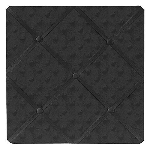 (Sweet Jojo Designs Solid Black Minky Dot Fabric Memory/Memo Photo Bulletin Board)
