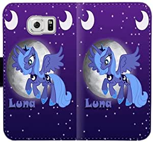 Mi pequeño Pony Owq C0K9O Funda Samsung Galaxy S6 Edge caja de cuero funda Ec26nH tapa del teléfono celular Funda Caso único para los muchachos