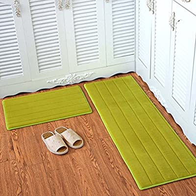 YJBear Flannel Solid Color Rectangle Floor Mat Entry Mat Doormat Home Decor Carpet Indoor Outdoor Area Rug Kitchen Floor Runner
