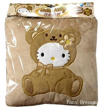 Amazon.com: Hello Kitty en disfraz de oso cojín – Hello ...