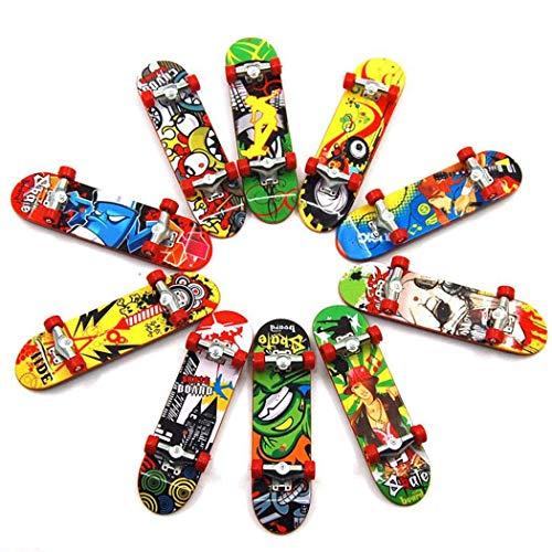 Gtlzlz 20pcs Professional Mini Metal Fingerboards/ Finger Skateboard, Unique Matte Surface Party Favors Novelty Toys for Kids Party Supplies (Random Pattern) by Gtlzlz (Image #7)