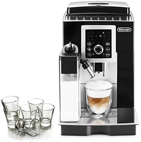 DeLonghi Magnifica S Black Smart Automatic Cappuccino Machine with Free Set of 6 Italian Espresso Shot Glasses by DeLonghi: Amazon.es: Hogar