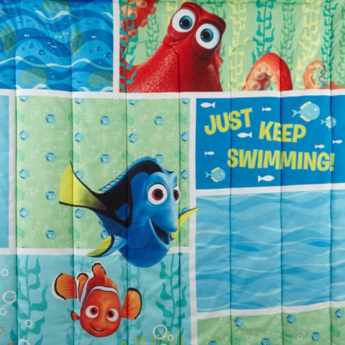 Finding Dory ''Marine Adventure'' Twin / Full Bedding Comforter - Dory and Nemo Just Keep Swimming - W/Bonus Sham