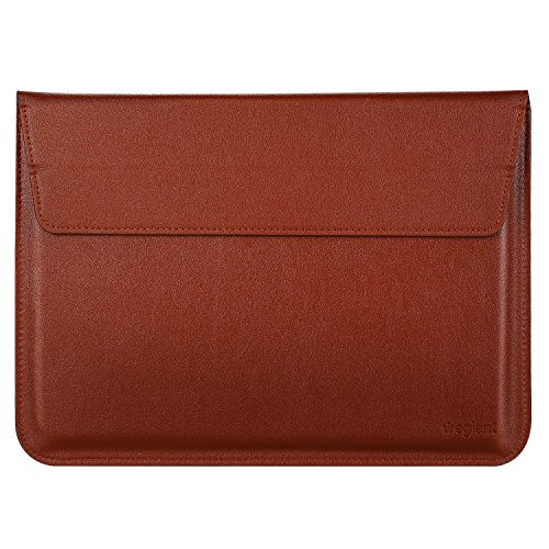 Laptop sleeve bag, Egiant Soft PU Protective Leather Sleeves Case for 13.3 inch MacBook Air 13/Pro Retina,New Macbook Pro 2016,iPad Pro,Surface Book-Brown by egiant