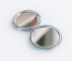 Ferza Home Mini Rond Motif de crème glacée de Dessin animé Petit Verre Cercles de miroirs pour la décoration Artisanale Accessoire cosmétique