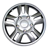 98 honda accord hubcaps - TuningPros WSC-006S15 Hubcaps Wheel Skin Cover 15-Inches Silver Set of 4