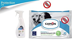Camon Spray Ambiente protetto Aceite de Neem para la casa & Toallitas al aceite de neem