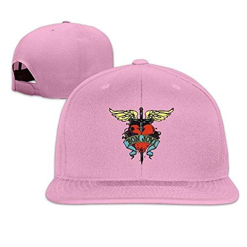 Cool Bon Jovi Rock Band Adjustable Baseball Hat Pink