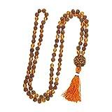 Japamala Mala Beads 108+1 Rudraksha Carnelian Kundalini Yoga Malabeads