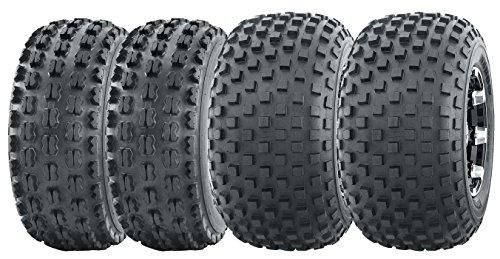Set of 4 WANDA Sport ATV tires 22x7-10 & 22x11-10 for 1999-2004 Yamaha Bear Tracker 250 (Tracker Yamaha Bear Parts)