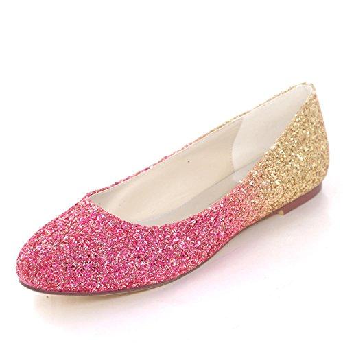 Lentejuelas Mujer Planas Satin Tallas Tacones L Shoes yc Red Party Wedding Cerrados Prom De Bombas tnWwnBq84