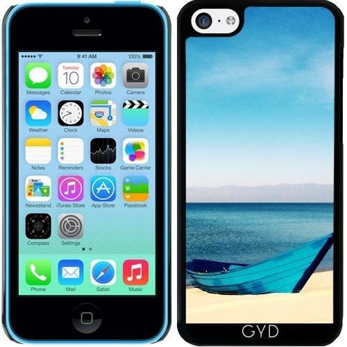 Coque pour Iphone 5c - Bateau Bleu Plage De Sable by Petra