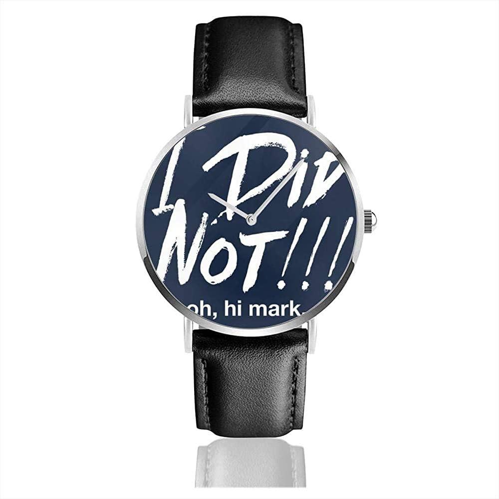 The Room I Did Oh Oh Hola Mark Relojes Reloj de Cuero de Cuarzo con Correa de Cuero Negro para Regalo de colección