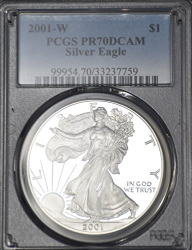 2001 W American Silver Eagle $1 PR70 PCGS DCAM