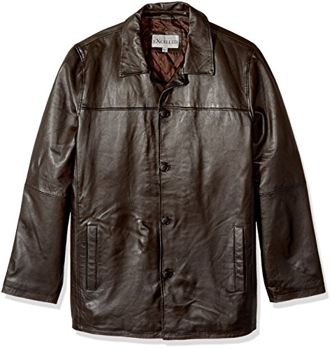 Excelled Men's Big and Tall Four-Button Lambskin Leather ...